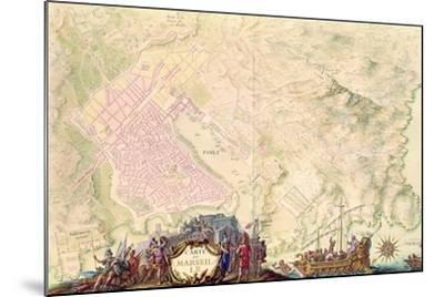 Louis XIV Atlas, Map and Plan of Marseille, 1683-88-Sebastien Le Prestre de Vauban-Mounted Giclee Print