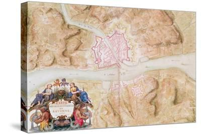Plan and Map of the Town and Citadel of Bayonne-Sebastien Le Prestre de Vauban-Stretched Canvas Print