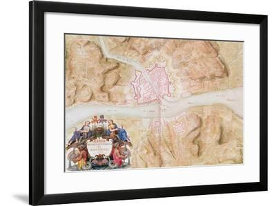 Plan and Map of the Town and Citadel of Bayonne-Sebastien Le Prestre de Vauban-Framed Giclee Print