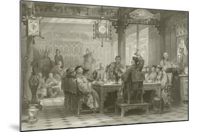 Dinner Party at a Mandarin's House-Thomas Allom-Mounted Giclee Print