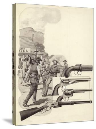 A Wild West Gunfight-Pat Nicolle-Stretched Canvas Print