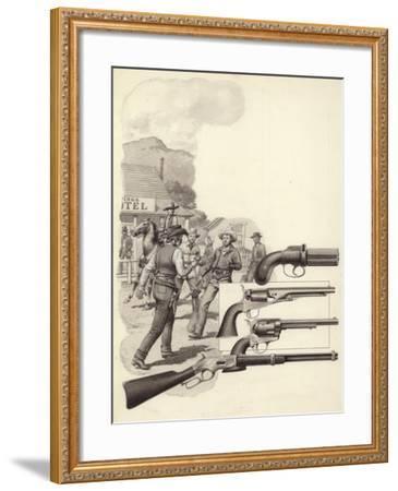 A Wild West Gunfight-Pat Nicolle-Framed Giclee Print