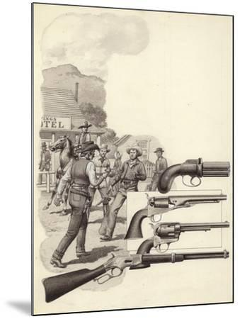 A Wild West Gunfight-Pat Nicolle-Mounted Giclee Print