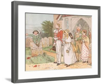 Oh! Never Despise the Soldier Lad-Though His Station Be But Low-Randolph Caldecott-Framed Giclee Print
