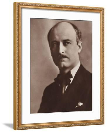 Portrait of Jacques Ibert--Framed Photographic Print