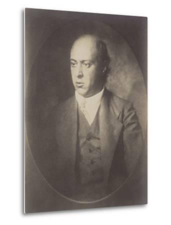 Portrait of Arnold Schoenberg--Metal Print