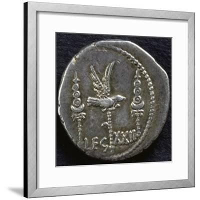Legionary Denarius of Mark Antony--Framed Giclee Print
