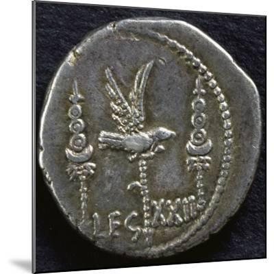Legionary Denarius of Mark Antony--Mounted Giclee Print