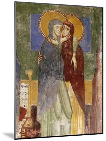 Meeting, 12th Century Fresco in Chapel of Saint Magdalene, Hocheppan Castle, Bolzano--Mounted Giclee Print