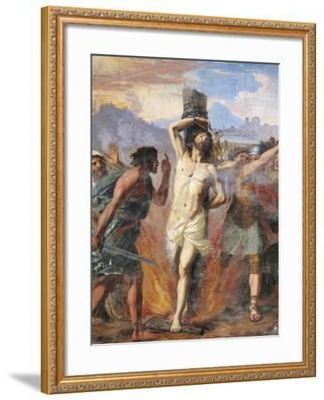 Martyrdom of Polycarp, Basilica of St Stephen in Round on Celian Hill, Rome, Italy, 16th Century--Framed Giclee Print