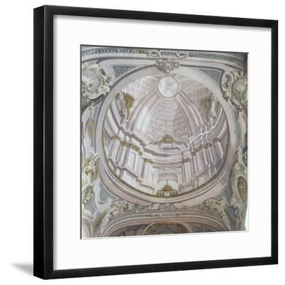 Detail of Ceiling with Frescoes-Vincenzo Re-Framed Giclee Print