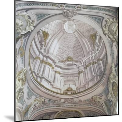 Detail of Ceiling with Frescoes-Vincenzo Re-Mounted Giclee Print