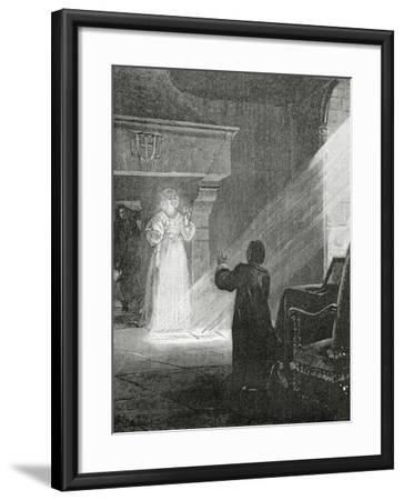 The Man in the Iron Mask, 19th Century-Tony Robert-fleury-Framed Giclee Print