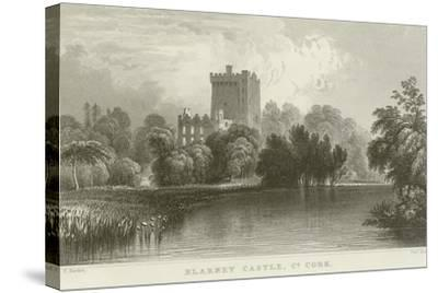 Blarney Castle in County Cork-William Henry Bartlett-Stretched Canvas Print