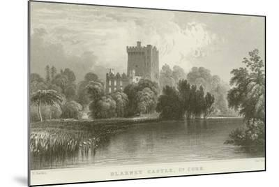 Blarney Castle in County Cork-William Henry Bartlett-Mounted Giclee Print