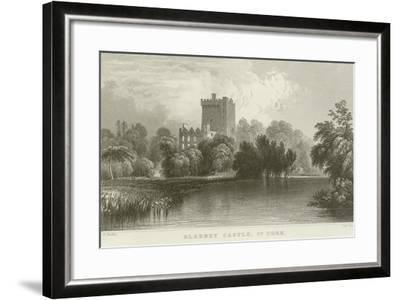 Blarney Castle in County Cork-William Henry Bartlett-Framed Giclee Print