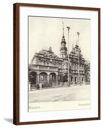 Postcard Depicting the Schackgalerie--Framed Photographic Print