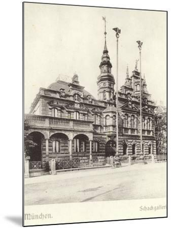 Postcard Depicting the Schackgalerie--Mounted Photographic Print