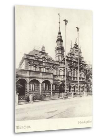 Postcard Depicting the Schackgalerie--Metal Print