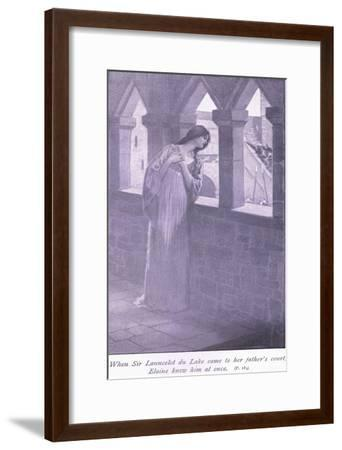 When Sir Launcelot Du Lake Came to Her Father's Court Elaine Knew Him at Once-William Henry Margetson-Framed Giclee Print