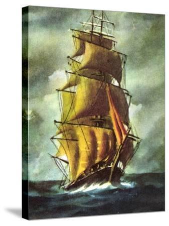 Künstler Segelschiff, 2 Master Auf Hoher See, Wolken--Stretched Canvas Print