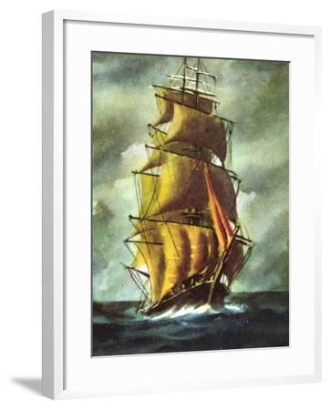 Künstler Segelschiff, 2 Master Auf Hoher See, Wolken--Framed Giclee Print