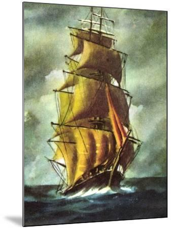 Künstler Segelschiff, 2 Master Auf Hoher See, Wolken--Mounted Giclee Print