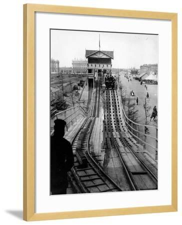 A Switchback Ride, St Petersburg, Early C20th--Framed Photographic Print