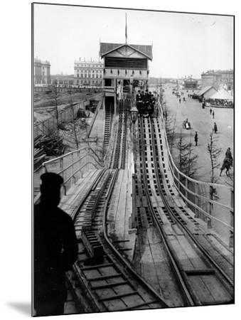 A Switchback Ride, St Petersburg, Early C20th--Mounted Photographic Print