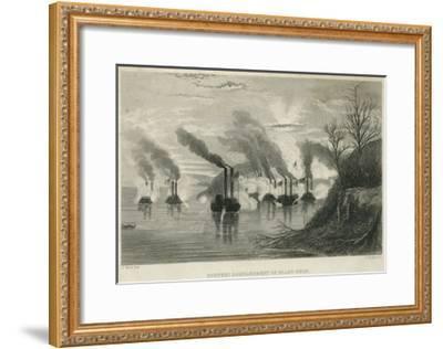 Porter's Bombardment of Grand Gulf, C.1863-Thomas Nast-Framed Giclee Print