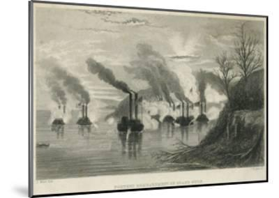 Porter's Bombardment of Grand Gulf, C.1863-Thomas Nast-Mounted Giclee Print