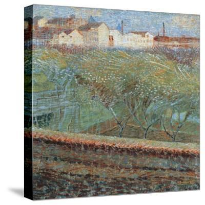 April Evening, 1908-Umberto Boccioni-Stretched Canvas Print