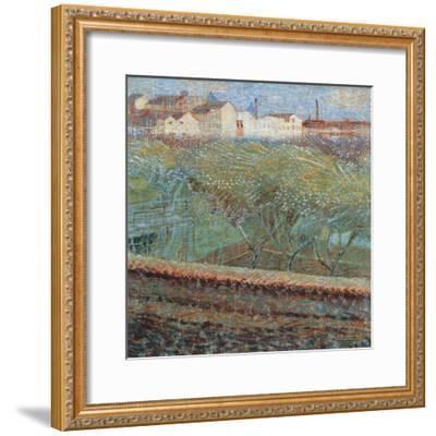 April Evening, 1908-Umberto Boccioni-Framed Giclee Print