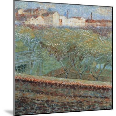April Evening, 1908-Umberto Boccioni-Mounted Giclee Print