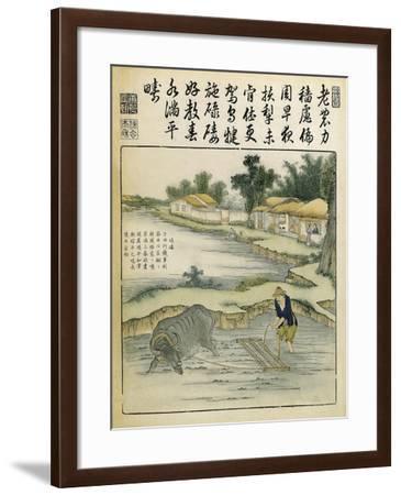 China, Work in Rice Fields During Ming Era, 1696-Yu Tche Keng Tche T'Ou-Framed Giclee Print