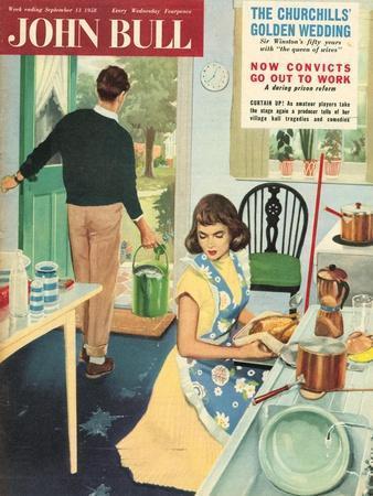 Front Cover of 'John Bull', September 1958--Framed Giclee Print