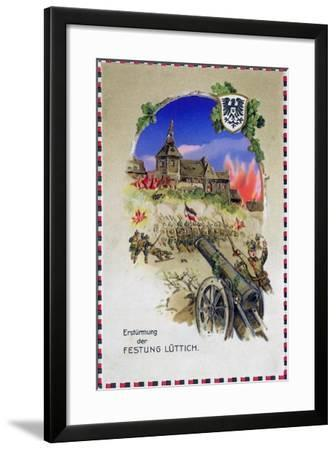 """""""Storming the Fortress of Liege"""", 1914--Framed Giclee Print"""