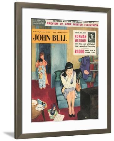 Front Cover of 'John Bull', November 1956--Framed Giclee Print