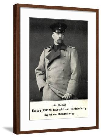 Herzog Johann Albrecht V Mecklenburg, Braunschweig--Framed Giclee Print