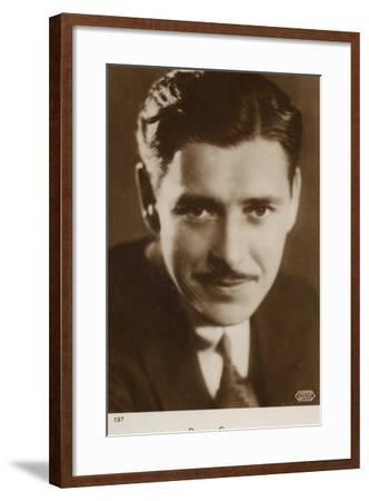 Ronald Colman, English Actor and Film Star--Framed Photographic Print