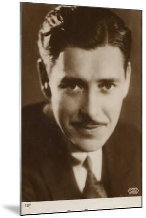 Ronald Colman, English Actor and Film Star--Mounted Photographic Print