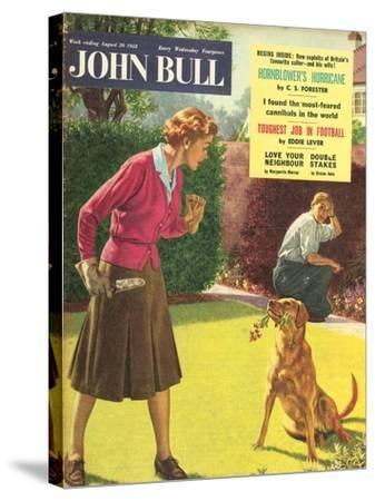 Front Cover of 'John Bull', August 1958--Stretched Canvas Print