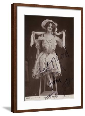 Daisy Jerome, English Stage Actress--Framed Photographic Print