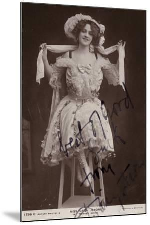 Daisy Jerome, English Stage Actress--Mounted Photographic Print