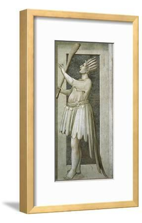 Foolishness, Male Figure with Mouth Closed by a Lock--Framed Giclee Print