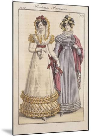 Fashion Plate Depicting Parisiennes During the Restauration Period--Mounted Giclee Print