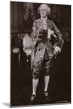 Sir Herbert Beerbohm Tree, English Stage Actor and Theatre Manager--Mounted Photographic Print