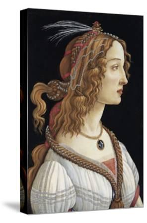 Portrait of Simonetta Vespucci as a Nymph by Sandro Botticelli--Stretched Canvas Print