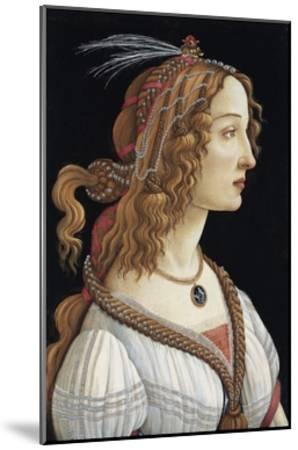 Portrait of Simonetta Vespucci as a Nymph by Sandro Botticelli--Mounted Giclee Print
