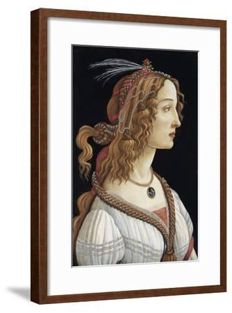 Portrait of Simonetta Vespucci as a Nymph by Sandro Botticelli--Framed Giclee Print